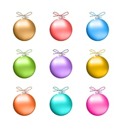 Collection of multicolored christmas balls vector image