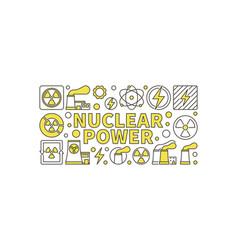 Creative nuclear power vector