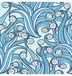 Doodle Swirls Seamless Pattern vector image