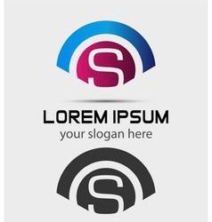 Letter S Logo Design Creative Symbol of letter S vector image vector image