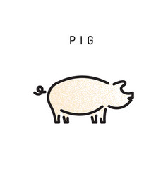 pig icon isolated vector image vector image