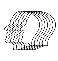 Abstract human heads vector