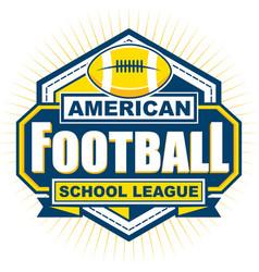 american football school league badge logo vector image