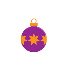 bauble christmas new year flat icon on white vector image