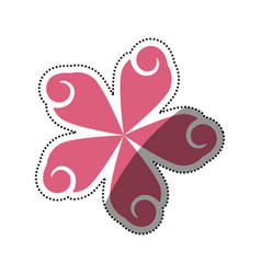 beautiful flower symbol vector image