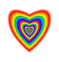 Big heart in rainbow colors vector