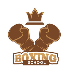 Boxing school emblem vector