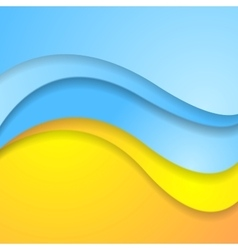 Bright abstract contrast corporate wavy background vector