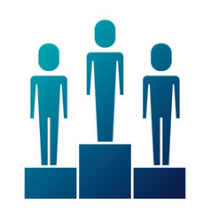 business men in podium competition success vector image