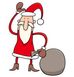 canta claus christmas character cartoon vector image