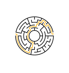 circle maze labyrinth game round puzzle vector image