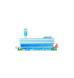 City airport building isolate modern terminal vector