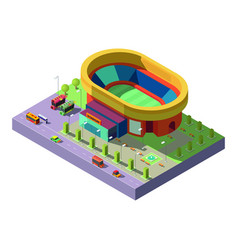 city stadium isometric projection icon vector image