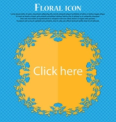 Click here sign icon Press button Floral flat vector
