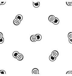 coins of uk pattern seamless black vector image