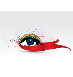 colorful eye vector image