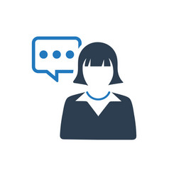 Customer support icon vector
