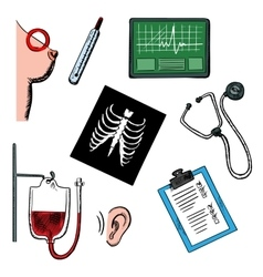 Diagnostics and medical test icons vector