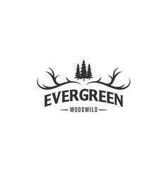 Evergreen for adventure logo designs vector