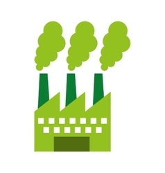 factory plant isolated icon vector image