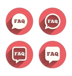 FAQ information signs Help speech bubbles vector image