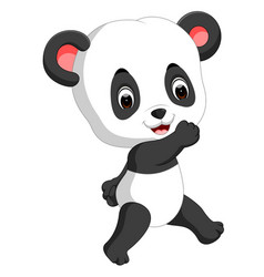 funny panda cartoon vector image