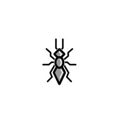 geometric black ant logo vector image