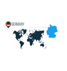 Germany location modern map for infographics all vector