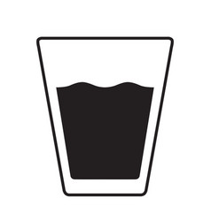 Glass of water black icon silhouette vector