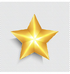 Gold star on transparent background vector