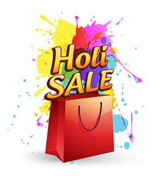 Holi sale design vector