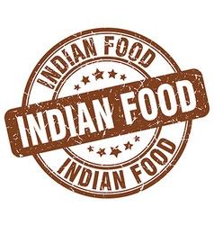 Indian food brown grunge round vintage rubber vector