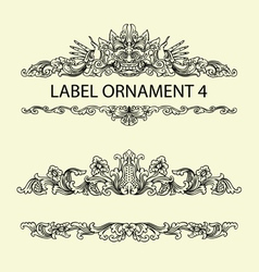 Label ornament 4 vector image