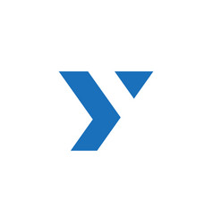 letter y trendy logo isolated on white background vector image