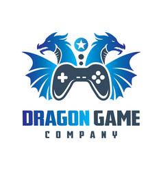logo design online dragon game vector image