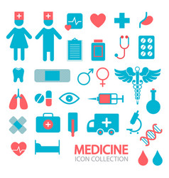 medical and healthcare icons simple shapes design vector image