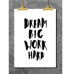 Motivational Quote Poster vector image