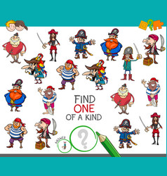 One a kind game with pirate characters vector