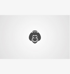 orangutan icon sign symbol vector image