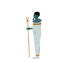 osisris god symbol ancient egyptian culture vector image