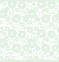 Pale green flowers texture pattern vector