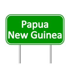 Papua new guinea road sign vector
