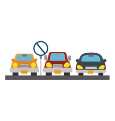 Parking zone concept icon vector