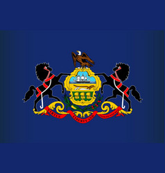 Pennsylvania state flag vector