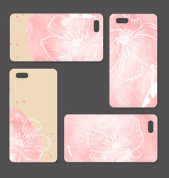 phone case delicate floral pattern vector image