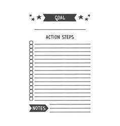 Printable organizer for study school or work vector