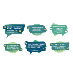 quote in quotes frames socrates quotes speech vector image