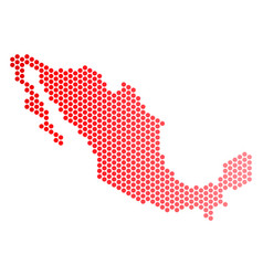 Red dot mexico map vector