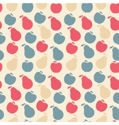 seamless pattern of fruit - apple and pear vector image