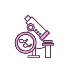Semen analysis rgb color icon vector